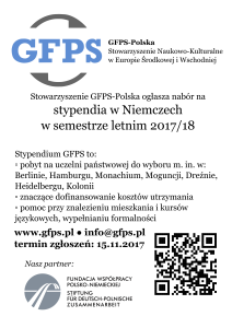 Stypendium GFPS plakat